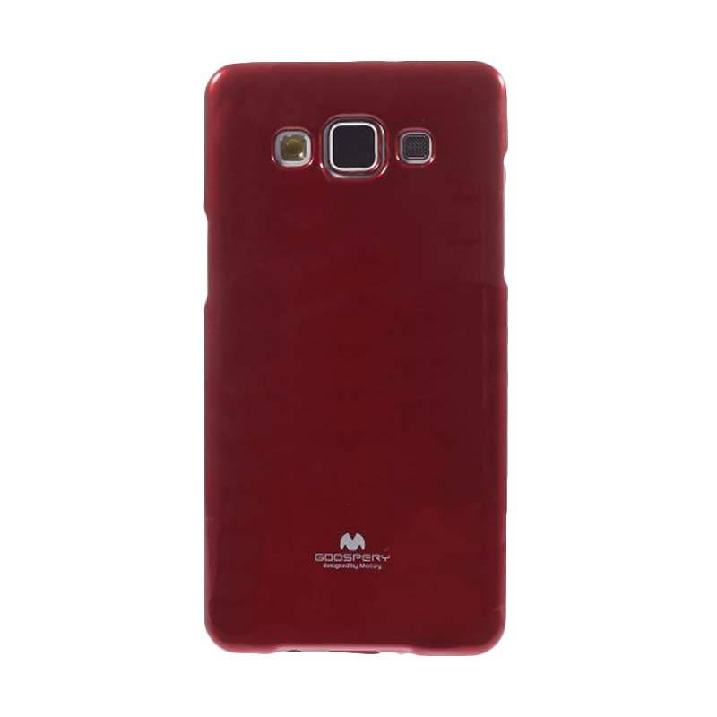 Mercury Goospery Jelly Glitter Red Casing for Galaxy Grand Prime