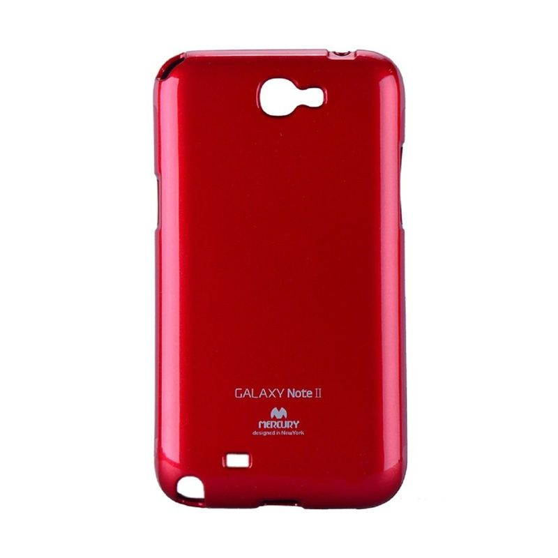 Mercury Goospery Jelly Glitter Red Casing for Galaxy Note 2