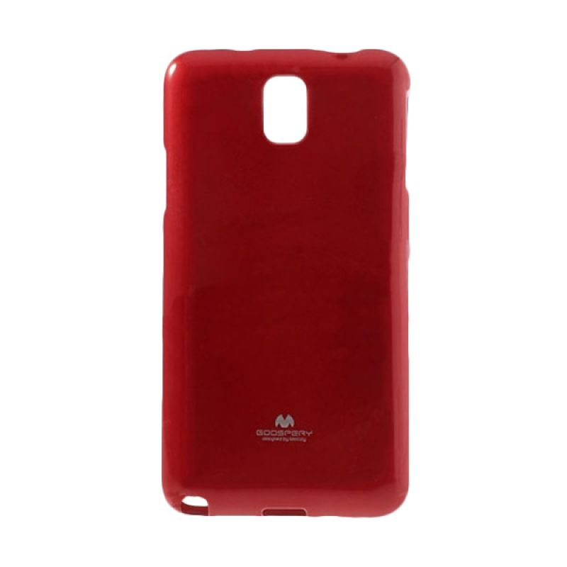 Mercury Goospery Jelly Glitter Red Casing for Samsung Galaxy Note 4
