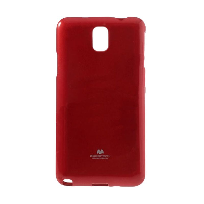 Mercury Goospery Jelly Glitter Red Casing for Galaxy Note Edge