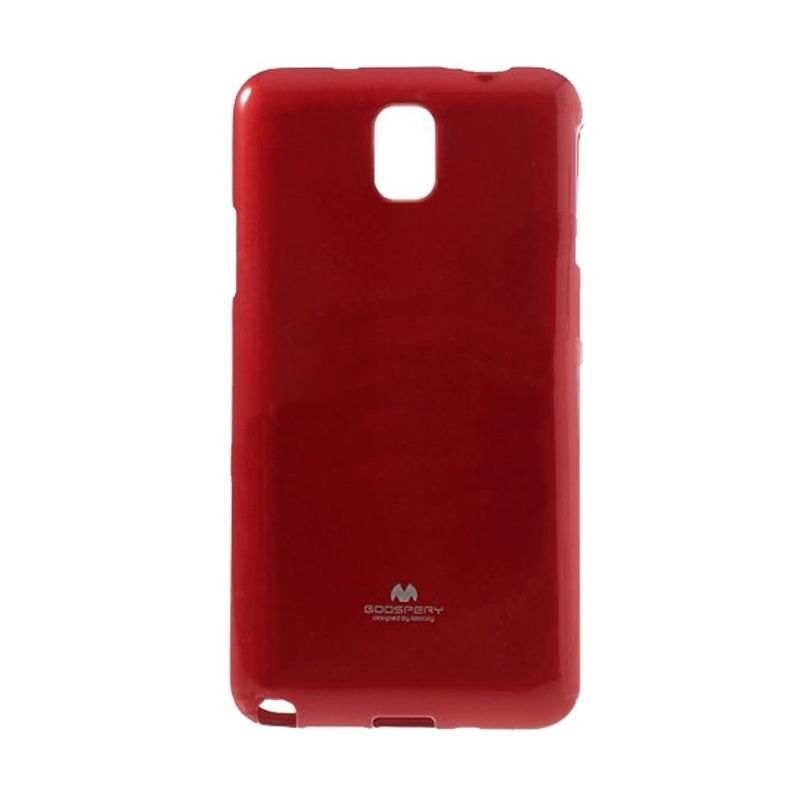 Mercury Goospery Jelly Glitter Red Casing for Galaxy S5