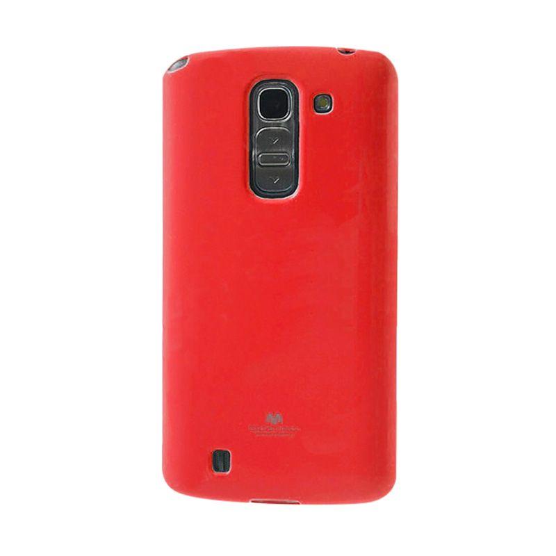 Mercury Goospery Jelly Glitter Red Casing for LG G Pro 2