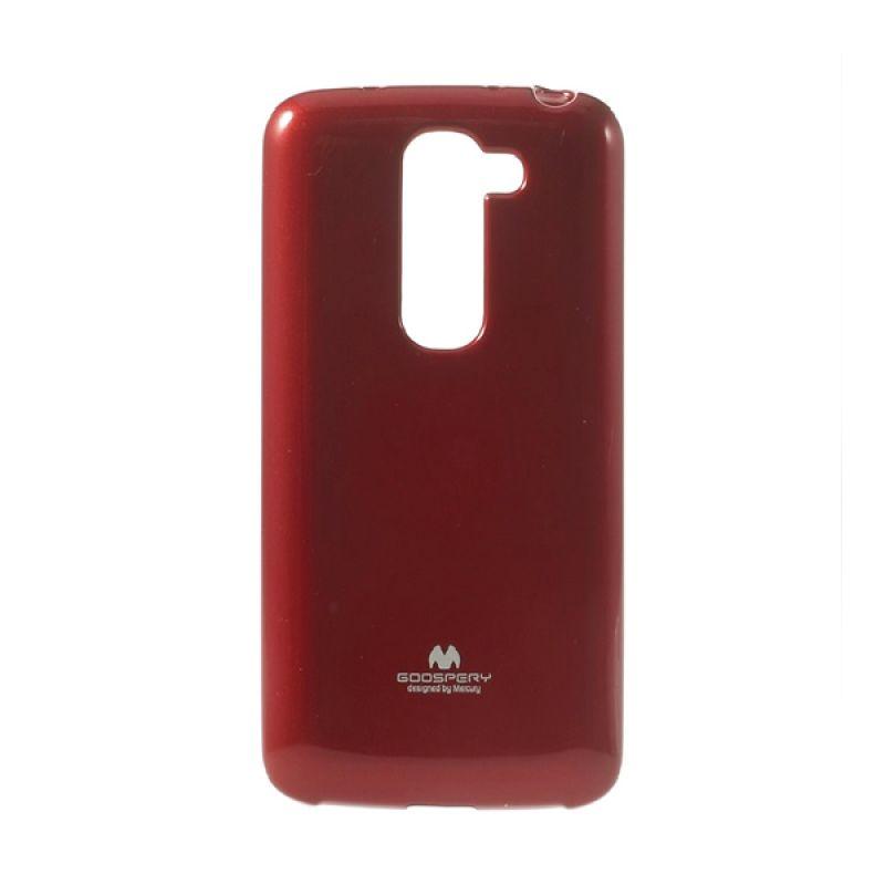 Mercury Goospery Jelly Glitter Red Casing for LG G2 Mini