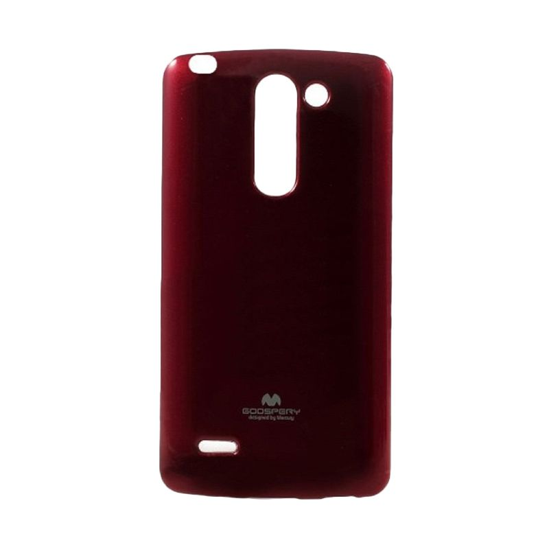 Mercury Goospery Jelly Glitter Red Casing for LG G3 Stylus