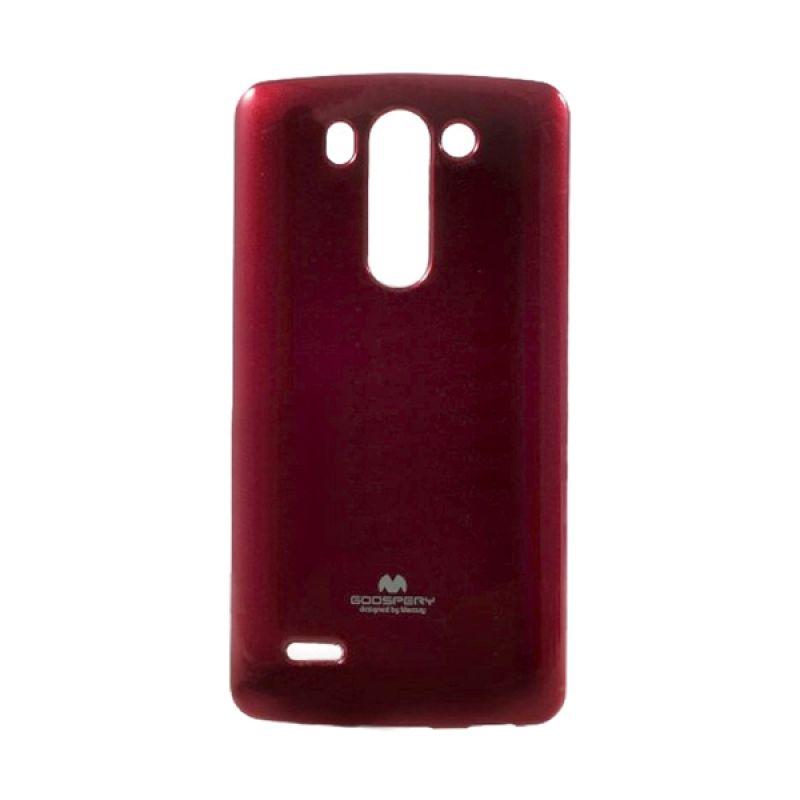 Mercury Goospery Jelly Glitter Red Casing for LG G3