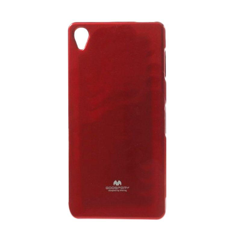 Mercury Goospery Jelly Glitter Red Casing for Sony Xperia Z3