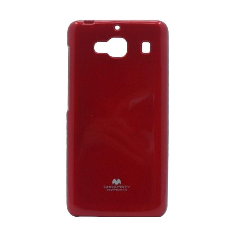 Mercury Goospery Jelly Glitter Red Casing for Xiaomi Redmi 2