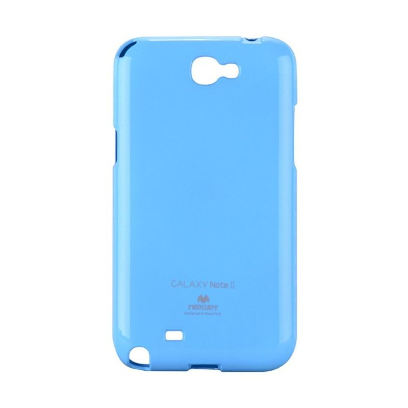 Mercury Goospery Jelly Glitter Sky Blue Casing for Galaxy Note 2