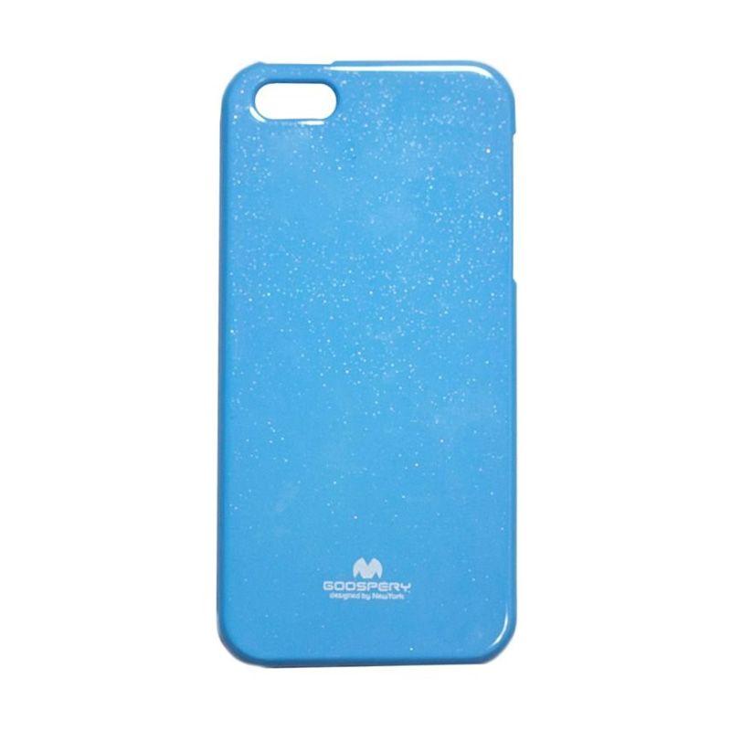 Mercury Goospery Jelly Glitter Sky Blue Casing for iPhone 5 or 5S