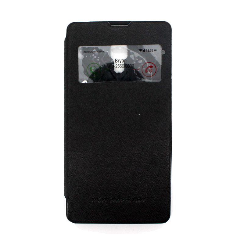 Mercury Goospery WOW Bumper View Black Casing for Xiaomi Redmi 2