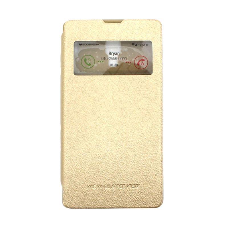 Mercury Goospery WOW Bumper View Gold Casing for Xiaomi Redmi 1S
