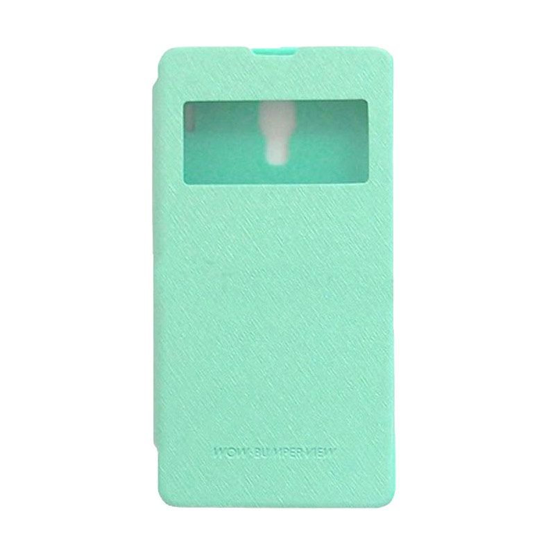 Mercury Goospery WOW Bumper View Mint Casing for Xiaomi Redmi Note