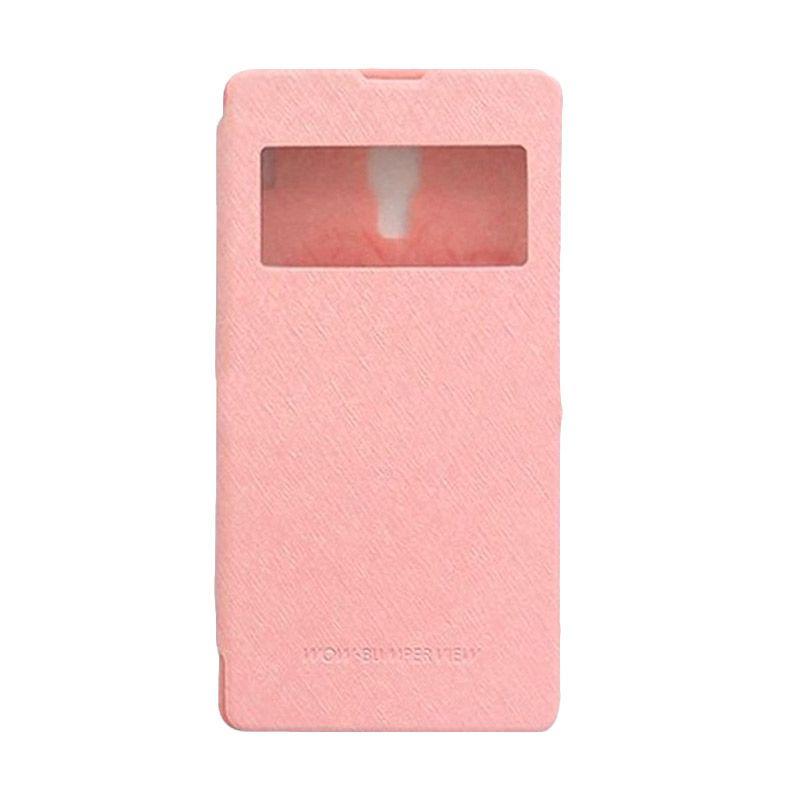 Mercury Goospery WOW Bumper View Pink Casing for Xiaomi Redmi 1S