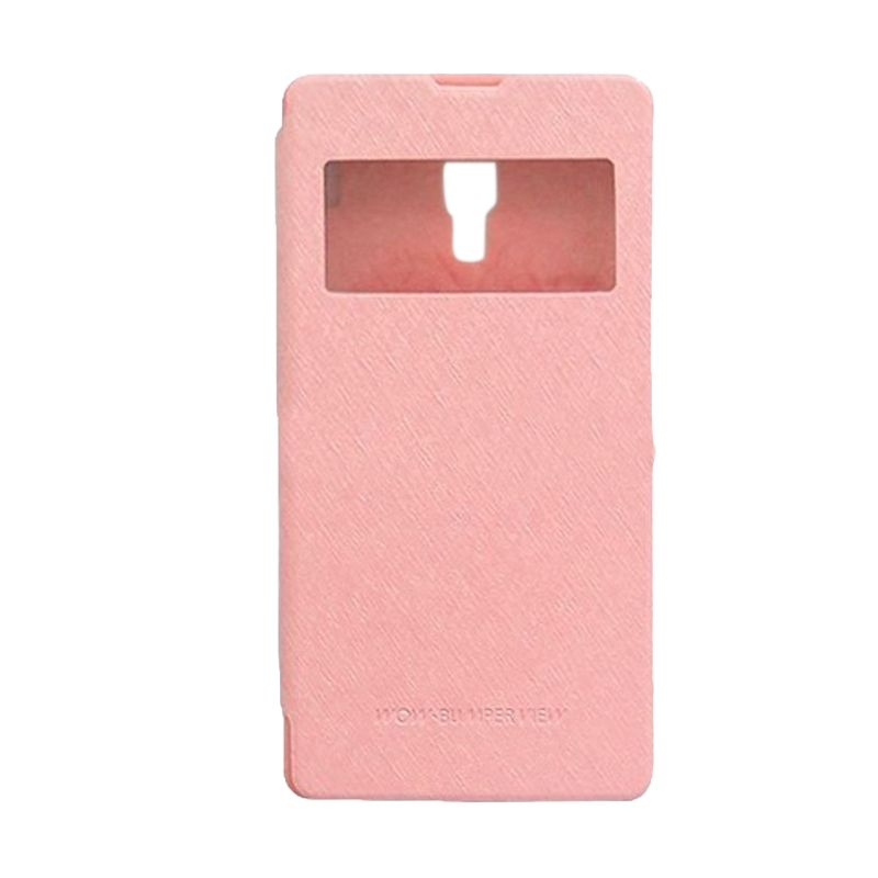 Mercury Goospery WOW Bumper View Pink Casing for Xiaomi Redmi Note