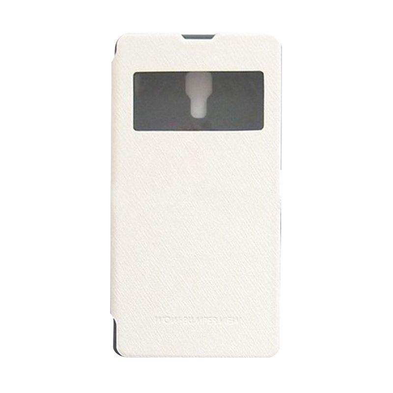 Mercury Goospery WOW Bumper View White Casing for Xiaomi Redmi Note