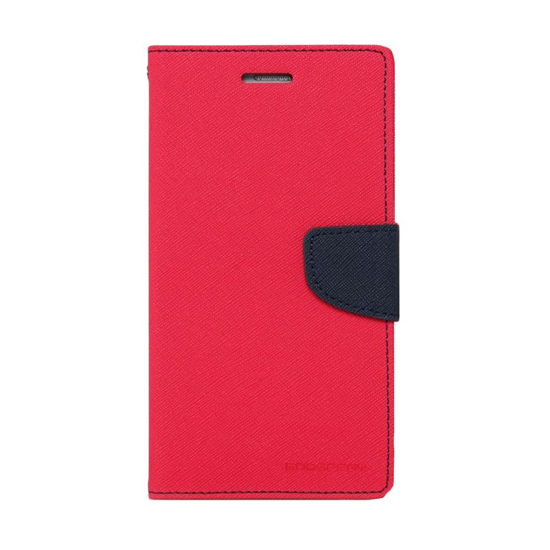 Mercury Goospery Fancy Diary Hotpink Navy Casing for Xiaomi Redmi 2
