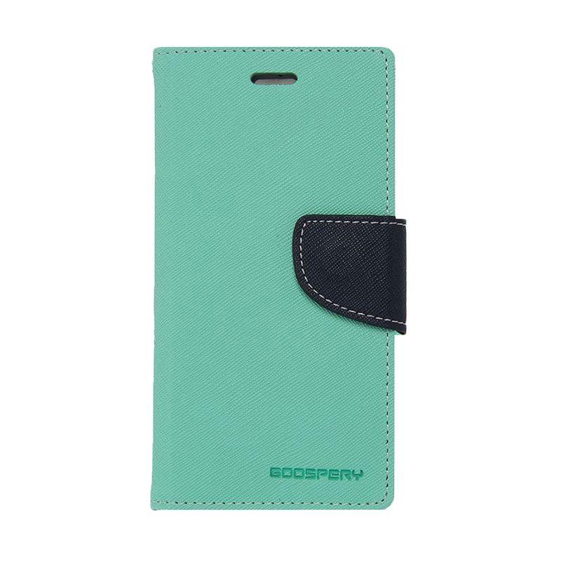 Mercury Fancy Diary Mint Navy Casing for Samsung Galaxy E3