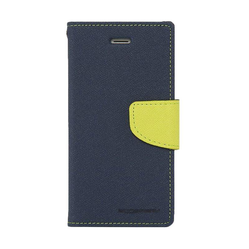 Mercury Goospery Fancy Diary Navy Lime Casing for Xiaomi Redmi 1S