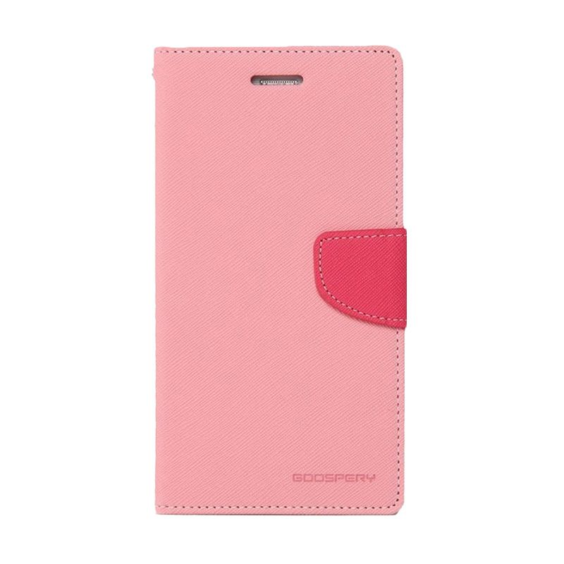 Mercury Fancy Diary Pink Hotpink Casing for Samsung Galaxy A3