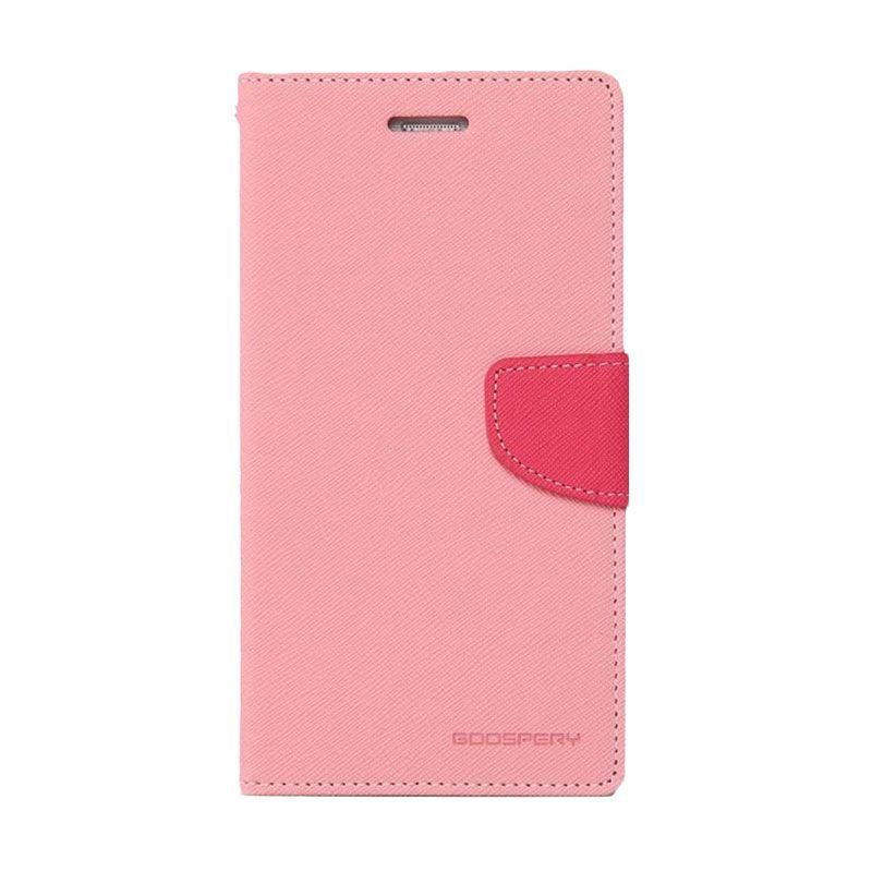Mercury Goospery Fancy Diary Pink Hotpink Casing for Xiaomi Redmi 2
