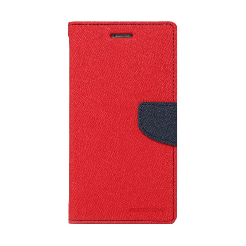 Mercury Fancy Diary Red Navy Casing for Samsung Galaxy Mega 6.3