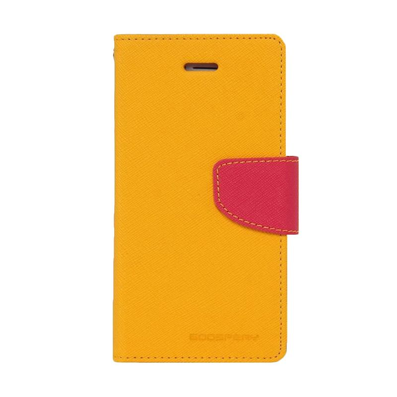 Mercury Goospery Fancy Diary Yellow Hotpink Casing for Xiaomi Redmi 1S