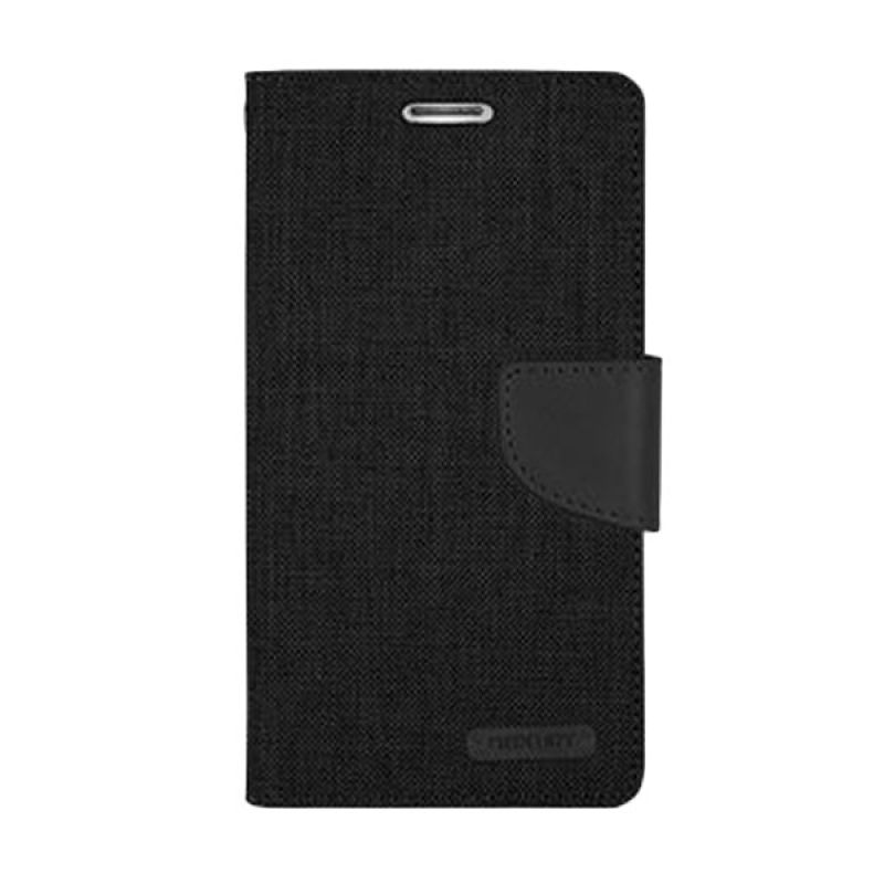 Mercury Goospery Canvas Diary Black Casing for Galaxy Grand or Grand Neo