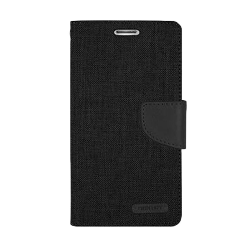 Mercury Goospery Canvas Diary Black Casing for iPhone 6 Plus