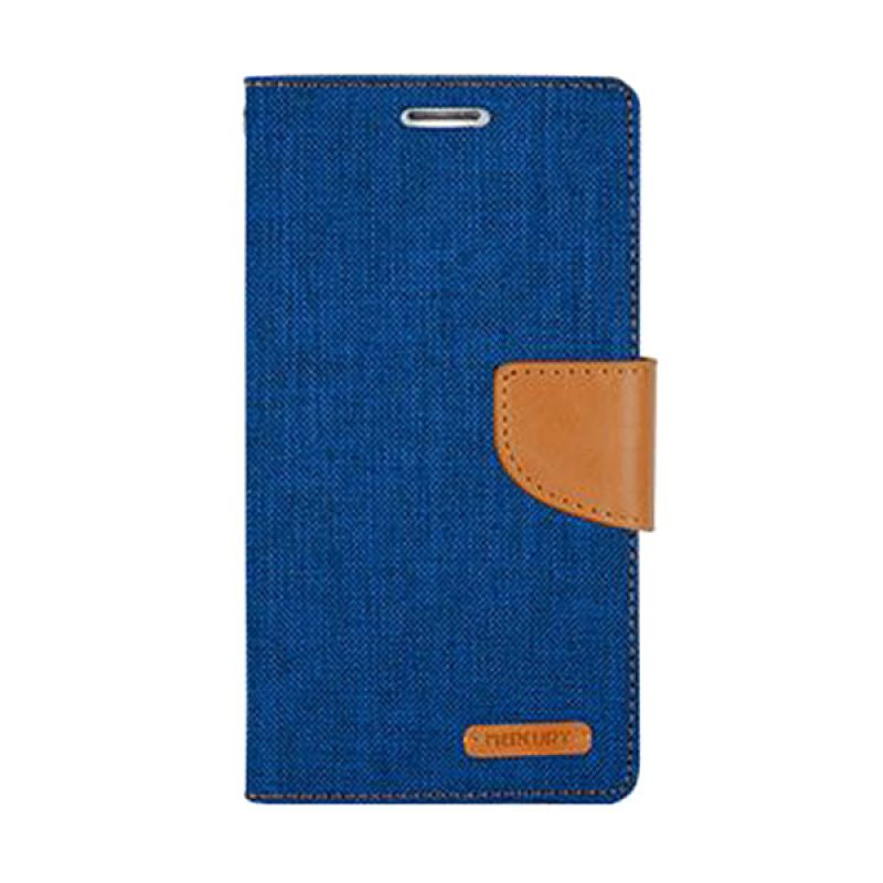 Mercury Goospery Canvas Diary Blue Casing for Galaxy Core 2