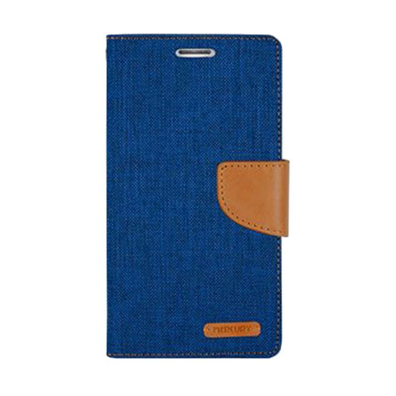 Mercury Goospery Canvas Diary Blue Casing for iPhone 6 Plus