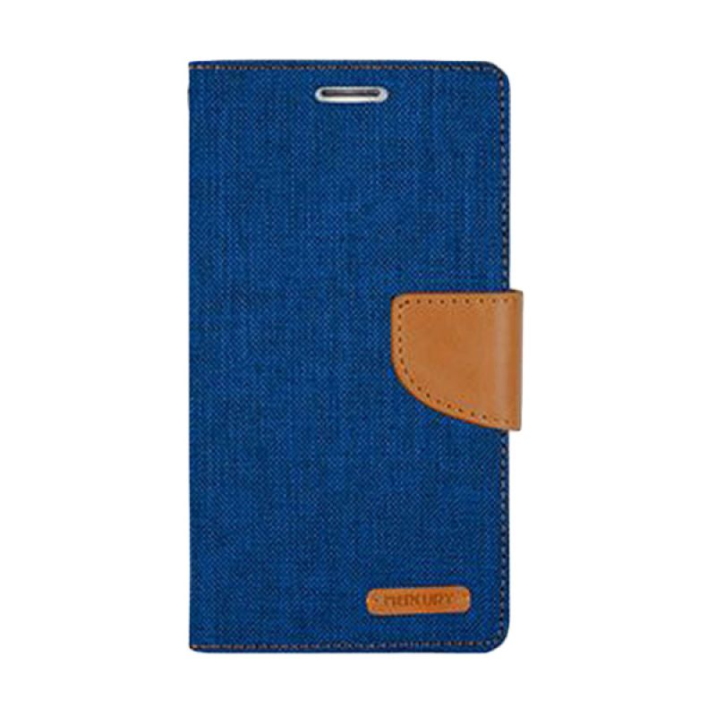 Mercury Goospery Canvas Diary Blue Casing for LG G3