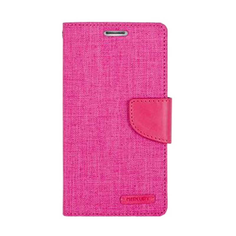 Mercury Goospery Canvas Diary Pink Casing for Asus Zenfone 5