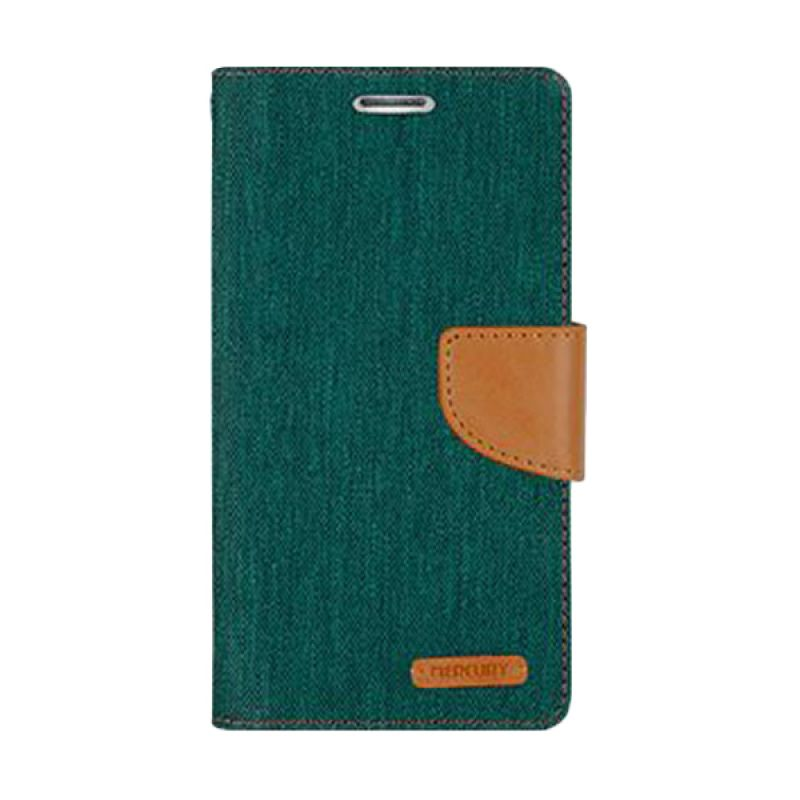 Mercury Goospery Canvas Diary Green Casing for Galaxy Grand or Grand Neo