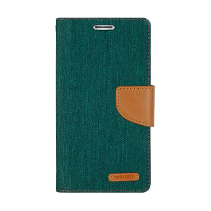 Mercury Goospery Canvas Diary Green Casing for Xiaomi Note