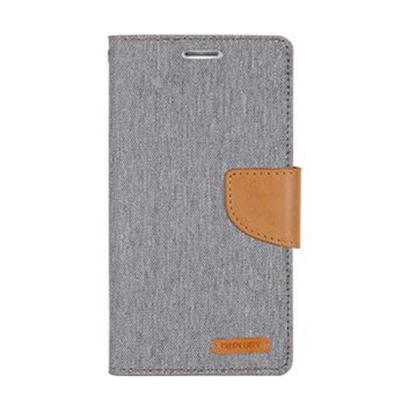 Mercury Goospery Canvas Diary Grey Casing for iPhone 6 Plus