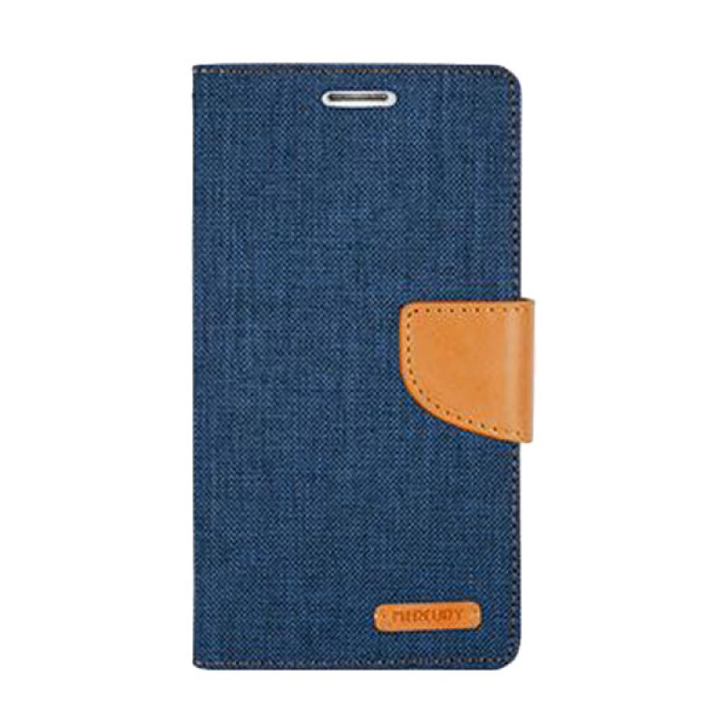 Mercury Goospery Canvas Diary Navy Casing for iPhone 6 Plus