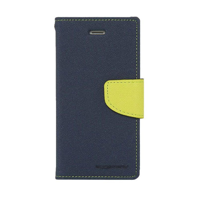 Mercury Goospery Fancy Diary Navy Lime Casing for Galaxy Alpha