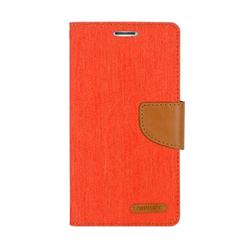 Mercury Goospery Canvas Diary Orange Casing for Asus Zenfone 2