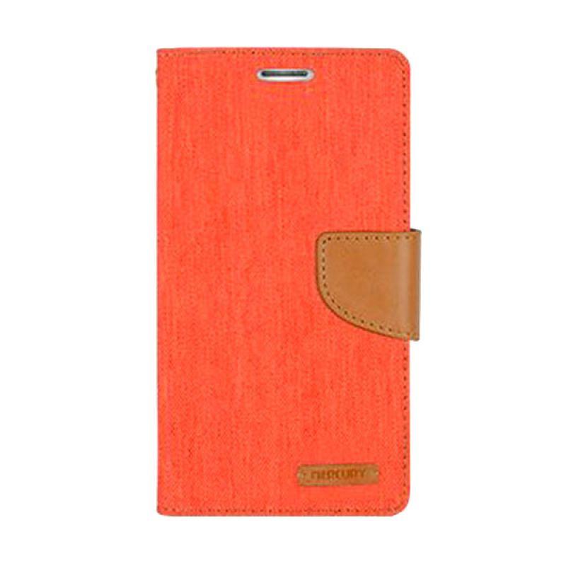 Mercury Goospery Canvas Diary Orange Casing for iPhone 6 Plus