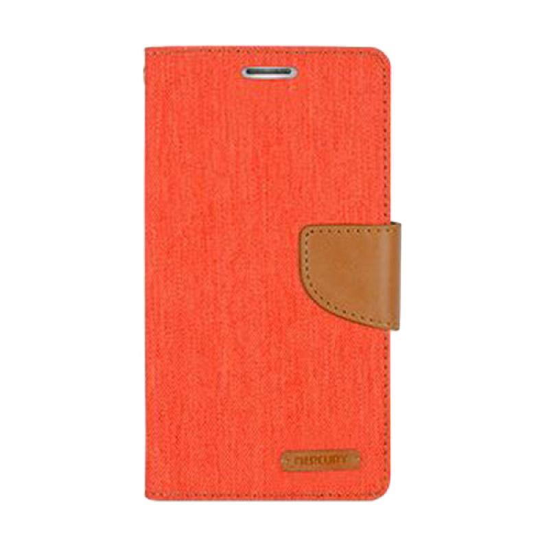 Mercury Goospery Canvas Diary Orange Casing for LG G3