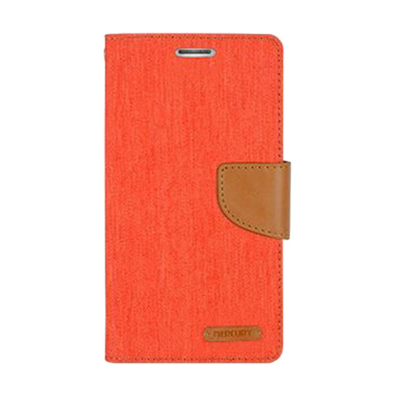 Mercury Goospery Canvas Diary Orange Casing for Xiaomi Note