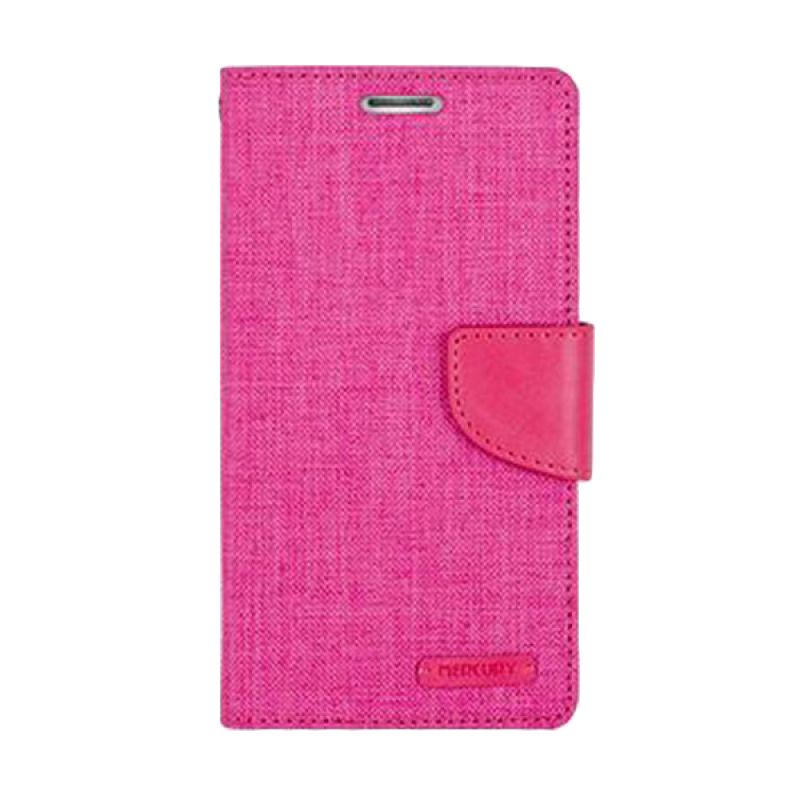 Mercury Goospery Canvas Diary Pink Casing for Xiaomi Redmi 2