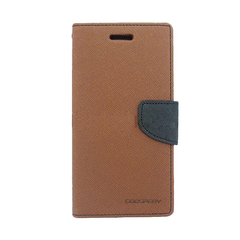 Mercury Goospery Fancy Brown Black Diary Flip Cover Casing for Galaxy Core Prime