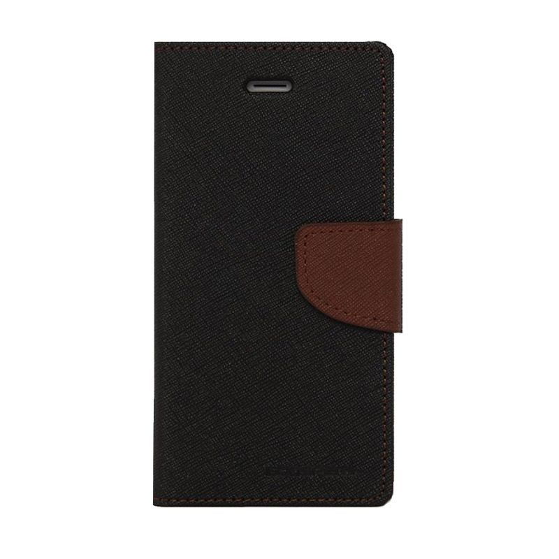 Mercury Goospery Fancy Diary Black Brown Casing for Galaxy Note 2
