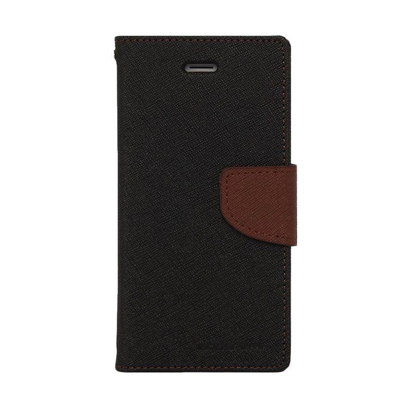 Mercury Goospery Fancy Diary Black Brown Casing for Nokia XL