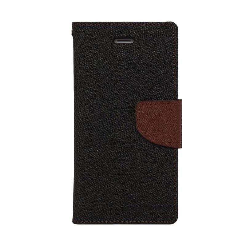 Mercury Goospery Fancy Diary Black Brown Casing for Xiaomi Mi4