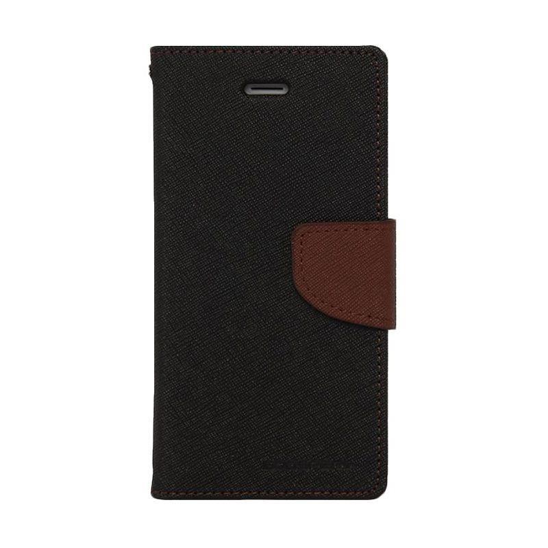 Mercury Goospery Fancy Diary Black Brown Casing for Xiaomi Note 2