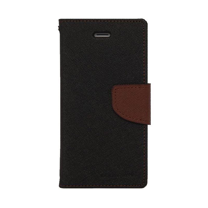 Mercury Goospery Fancy Diary Black Brown Casing for Xperia Z4