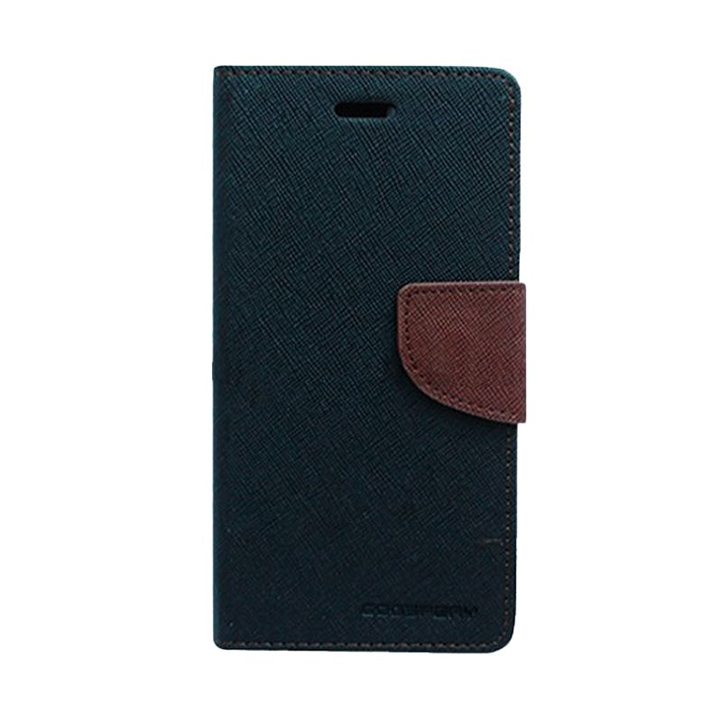 Mercury Goospery Fancy Diary Black Brown Flip Cover Casing for Galaxy Ace 3