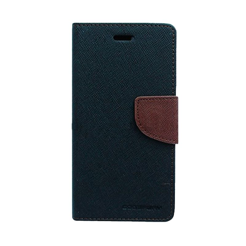 Mercury Goospery Fancy Diary Black Brown Flip Cover Casing for Galaxy Core Prime